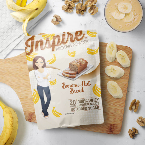 Inspire Whey Protein Isolate, Banana Nut Bread