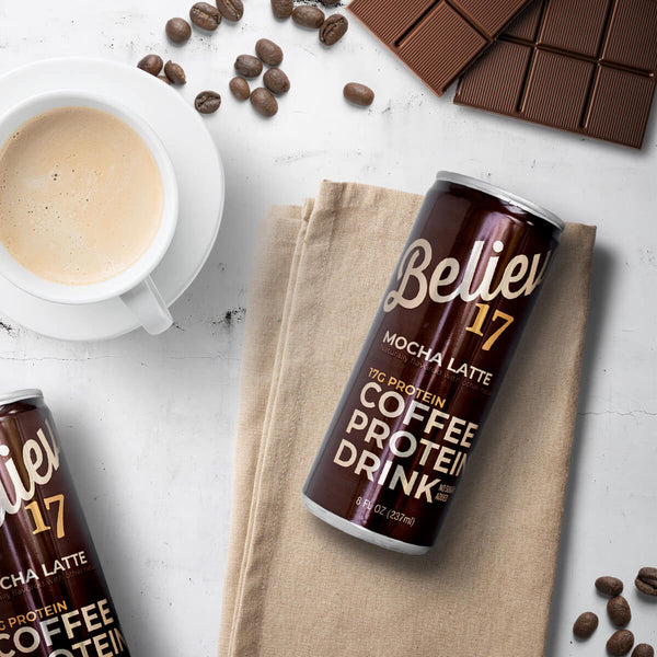 Believe 17 Mocha Latte Ready-to-Drink Protein - 12 cans/box