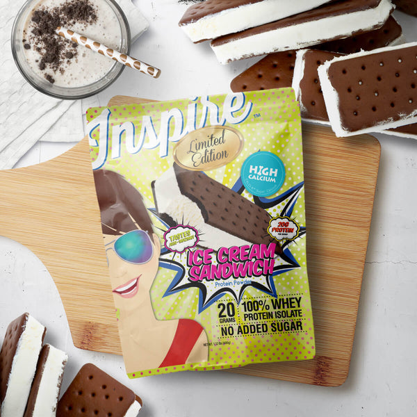 Arrives July 4th. Inspire Whey Protein Isolate, Ice Cream Sandwich
