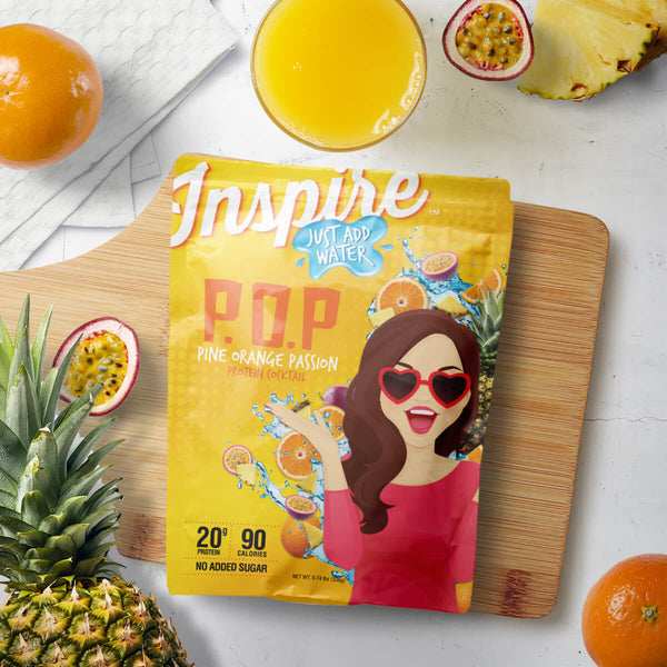 Inspire Protein Juice Mix, Pineapple Orange Passion
