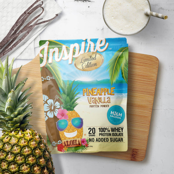 Arrives July 24th. Inspire Whey Protein Isolate, Pineapple Vanilla