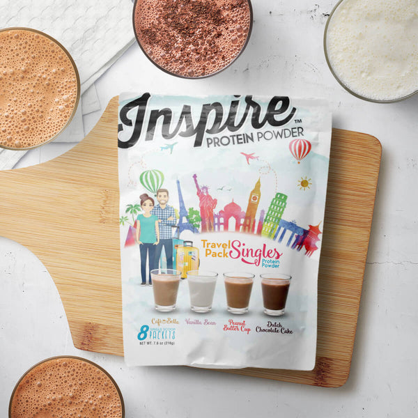 Inspire Whey Protein Isolate, Travel Singles - 8 Single Scoops - Top Four Flavors
