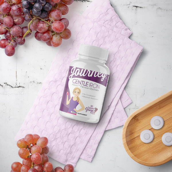 Journey 'Gentle' Iron Grape Tablets, 60 servings