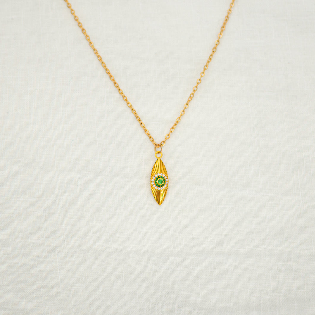 Necklace LUCKY CHARM green