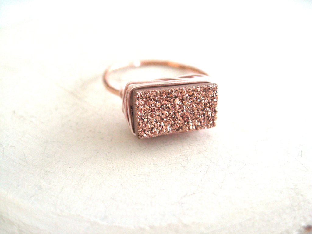 Rosegold Bar Ring