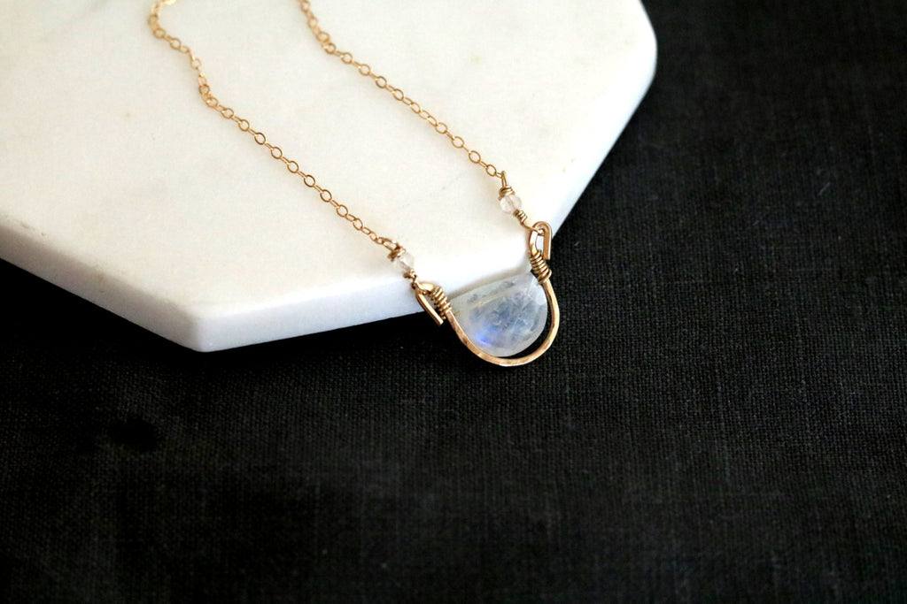 Rockpool Necklace - Moonstone Gemstone