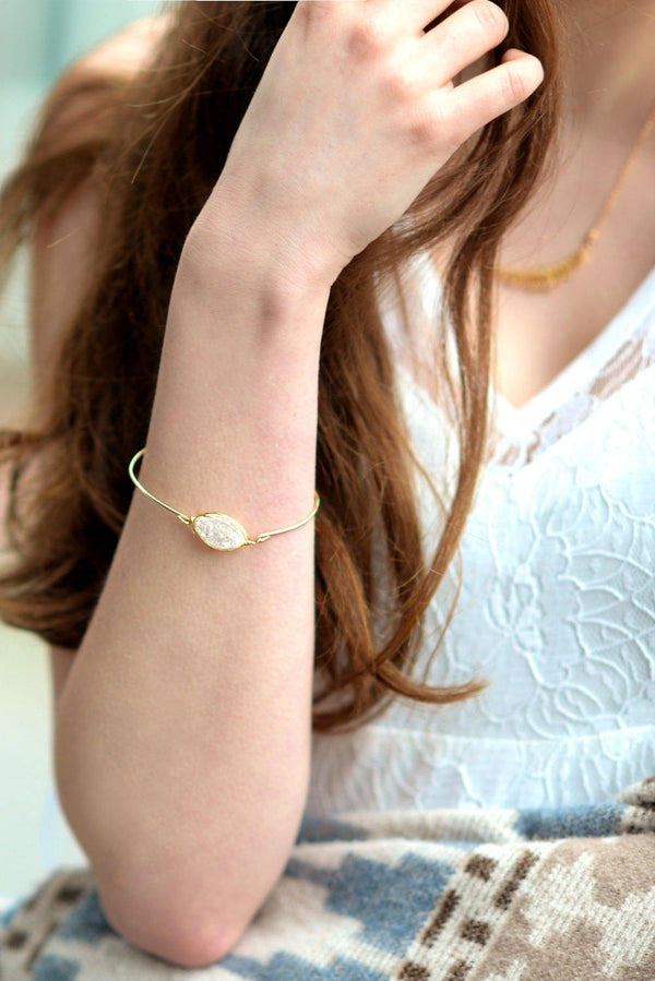 Marquise Druzy bangle - Amaretto