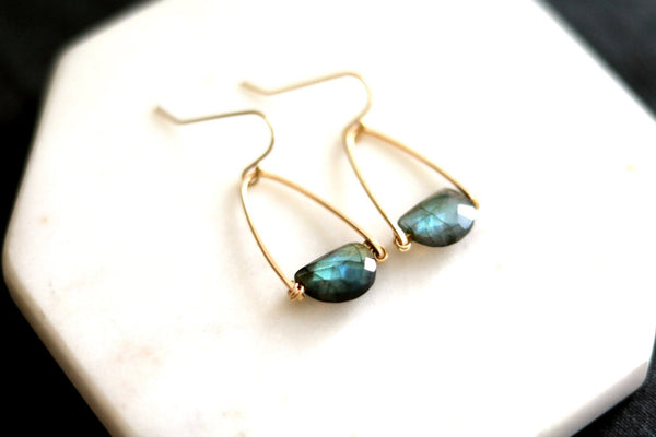 Rockpool Labradorite earrings