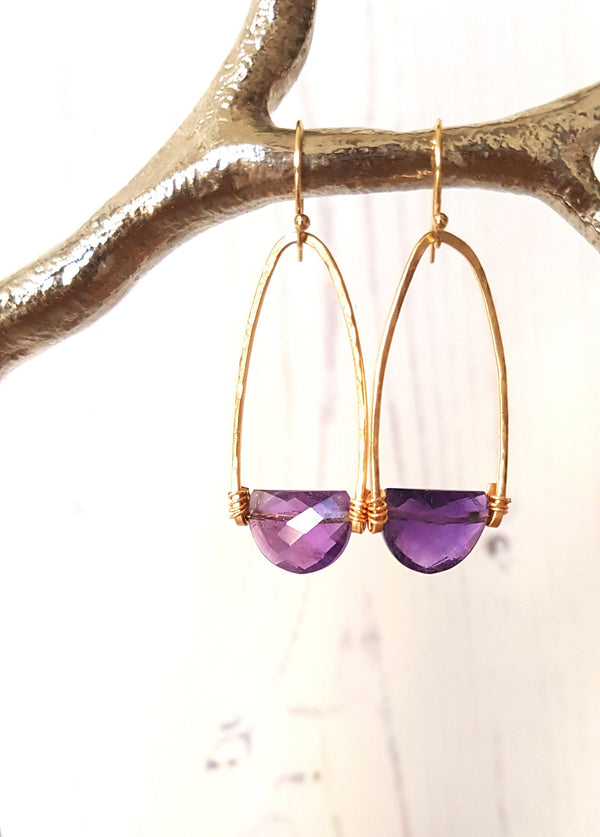 Rockpool earrings - Amethyst