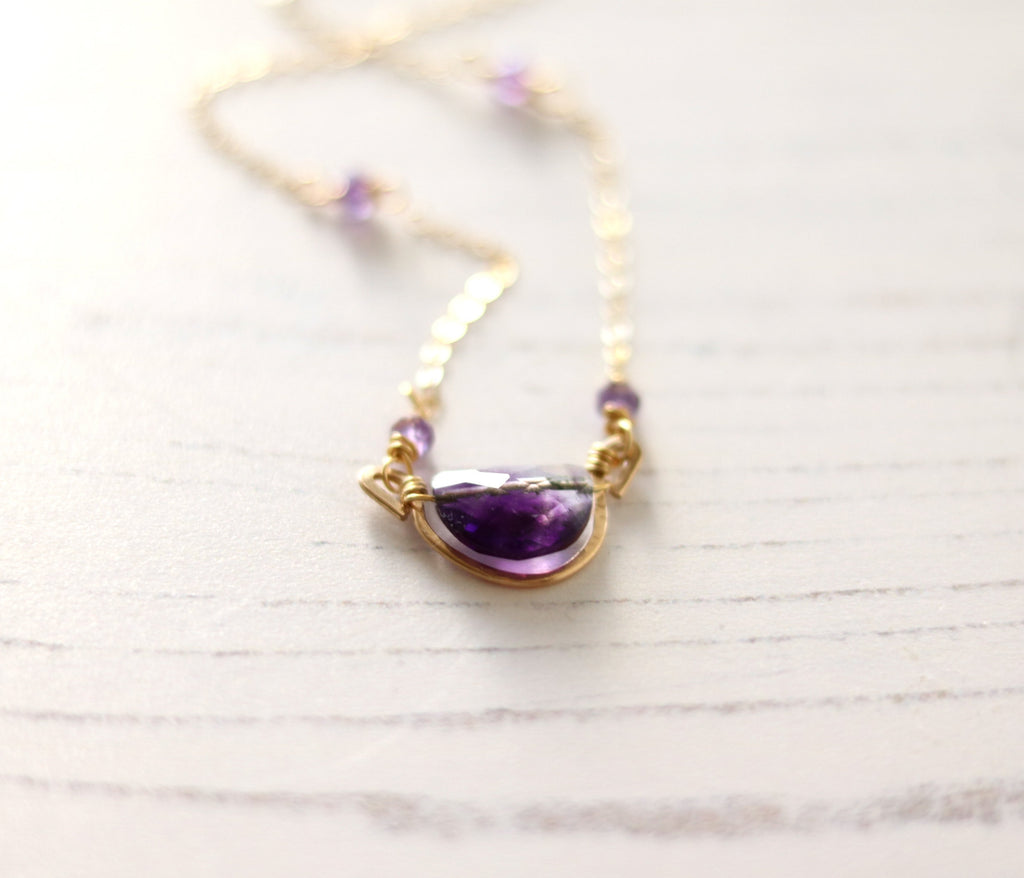 Rockpool Necklace - Amethyst gemstone