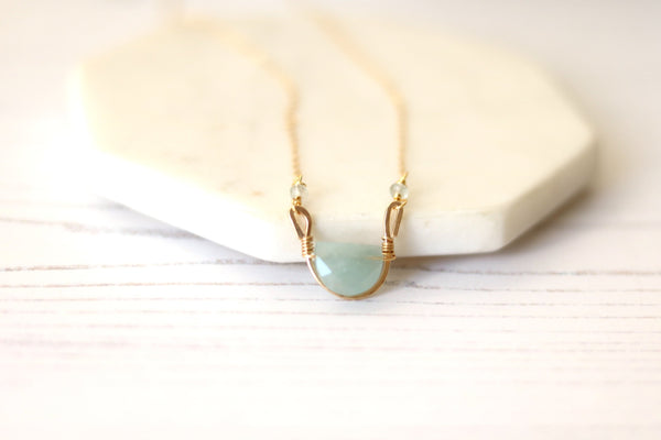 Rockpool Necklace - Aquamarine gemstone