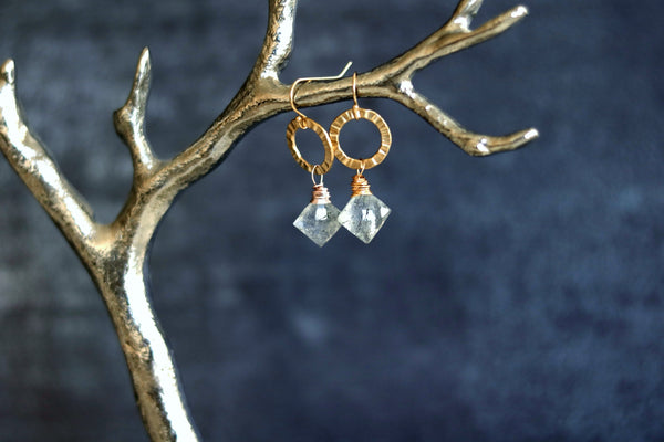 Eterna earrings - Rutilated Quartz