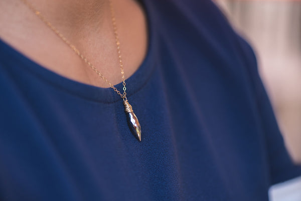 Pyrite Spike Necklace