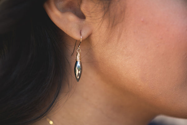 Pyrite Dewdrop earrings