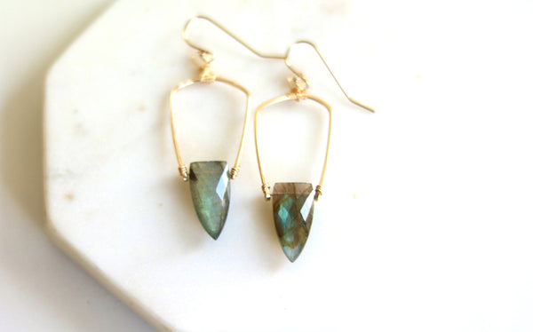 Surf earrings - Labradorite statement drops