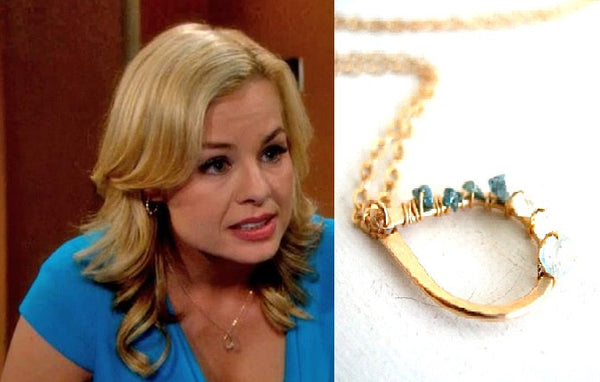 As seen on Young & The Restless - Blue Rough Diamond Necklace