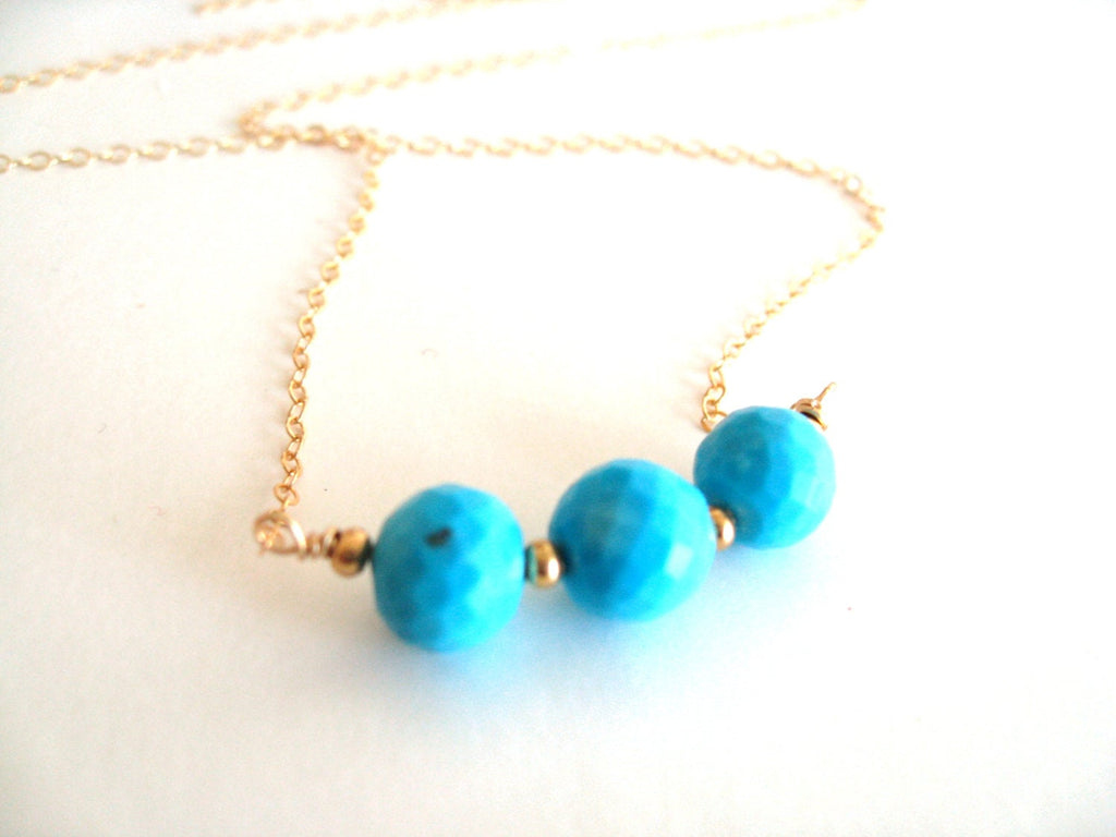 Turquoise Layering Necklace with round beads