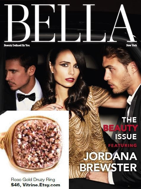 As seen in Bella NYC magazine 2015 - Rosegold Druzy ring