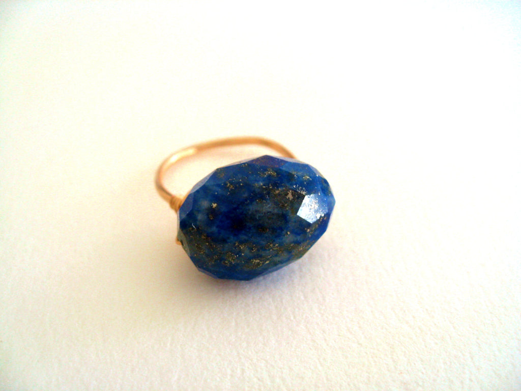 Statement Lapis Lazuli Cocktail Ring Statement ring