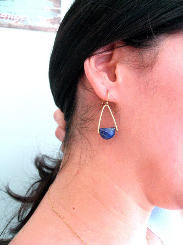 Rockpool Earrings - Lapis Lazuli