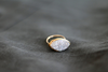 Marquise white Amaretto druzy ring