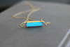 Turquoise Bar necklace Vermeil gold Pop of color summer jewellery