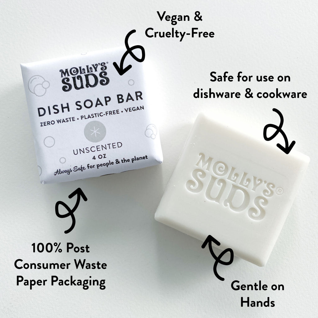 Benefits of the New Molly's Suds Dish Soap Bar