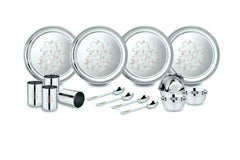 Classic Essentials Stainless Steel Glory Dinner Set, 16-Pcs, Silver