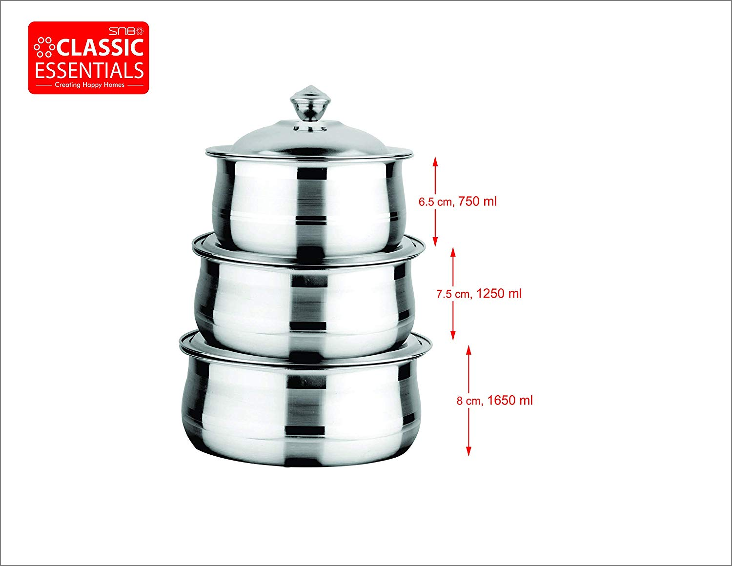 Classic Essentials High Grade Stainless Steel Dinner Set of 83 Pcs, Silver