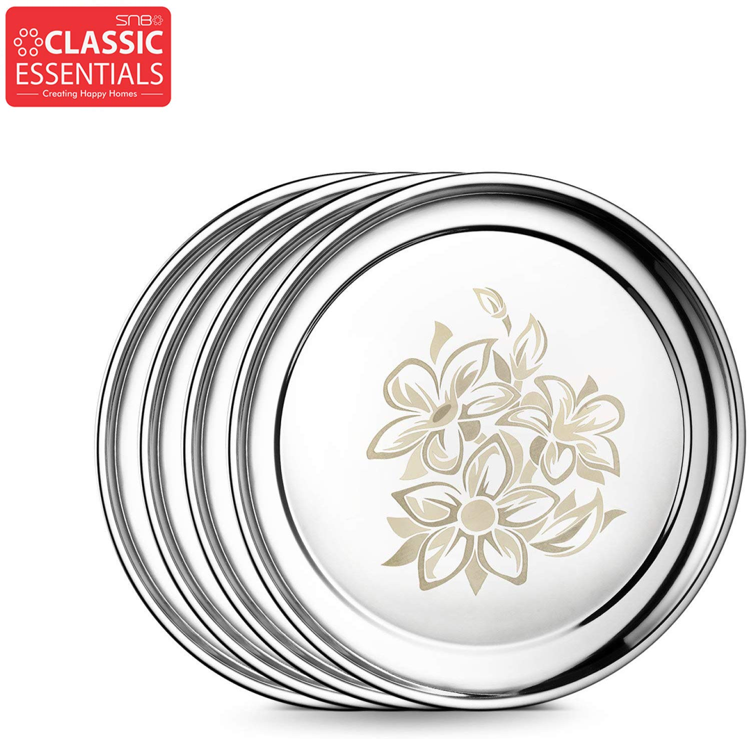 Classic Essential Stainless Steel Glory Dinner Set, 28-Pcs, Silver