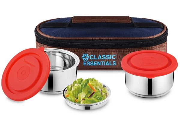 Classic Essentials Hot Munch Lunch Box Set of 2