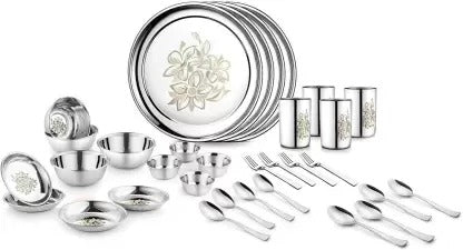Classic essentials stainless steel 32 PCS Dinner Set