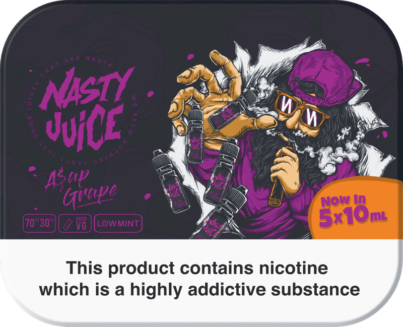 Nasty E-Liquid Nasty Juice - 5x10ml - ASAP Grape - 3mg/6mg