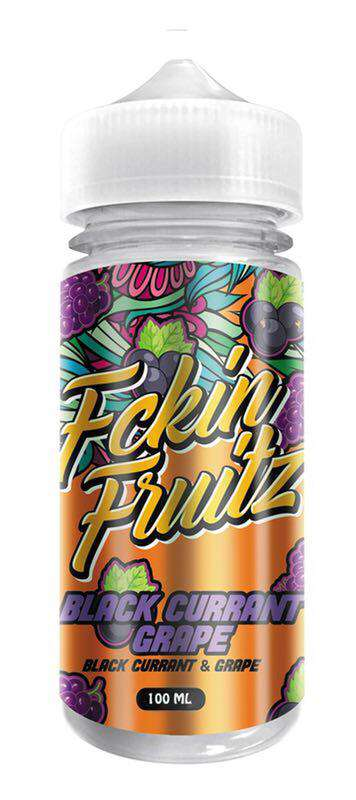 Vapeazy E-Liquid Fckin Fruitz - 100ml Shortfill - Black Currant Grape