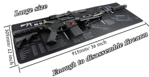 Armorers disassembly Repair Build Tool Kits Bench Pads Gun Cleaning Mat for AR15 AK47 Glock 1911 SIG Rifle Pistol