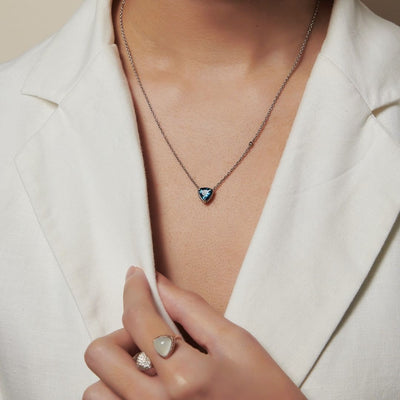 Trilliant Solitaire Necklace - Carrie K.