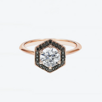 Fine Hexa Halo Ring - Carrie K.