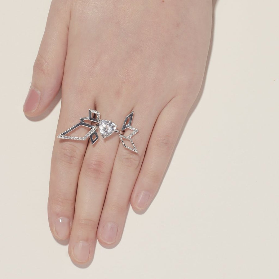 Trilliant Solitaire Ring