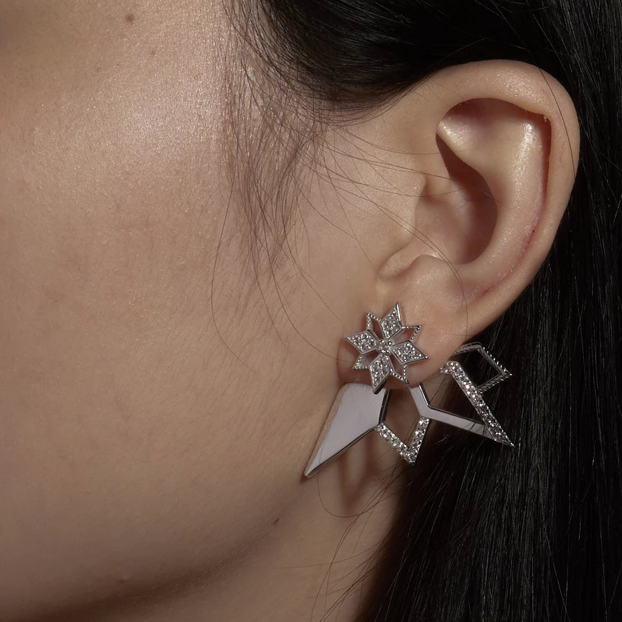 Star Statement Ear Jacket (9K Gold)
