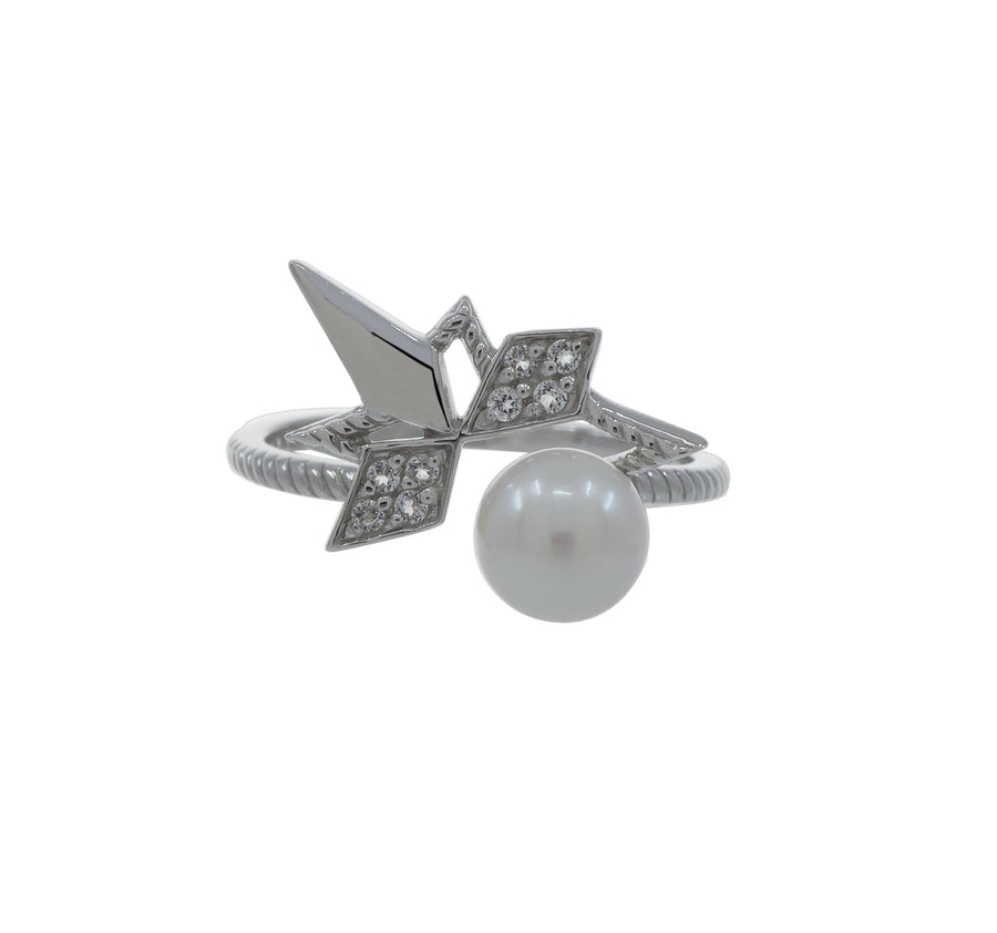 Pearl Star Ring (18K Gold) - Carrie K.