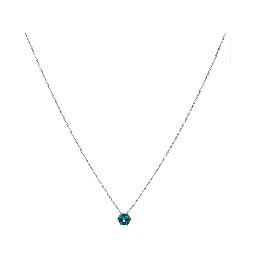 Hexa Solitaire Necklace