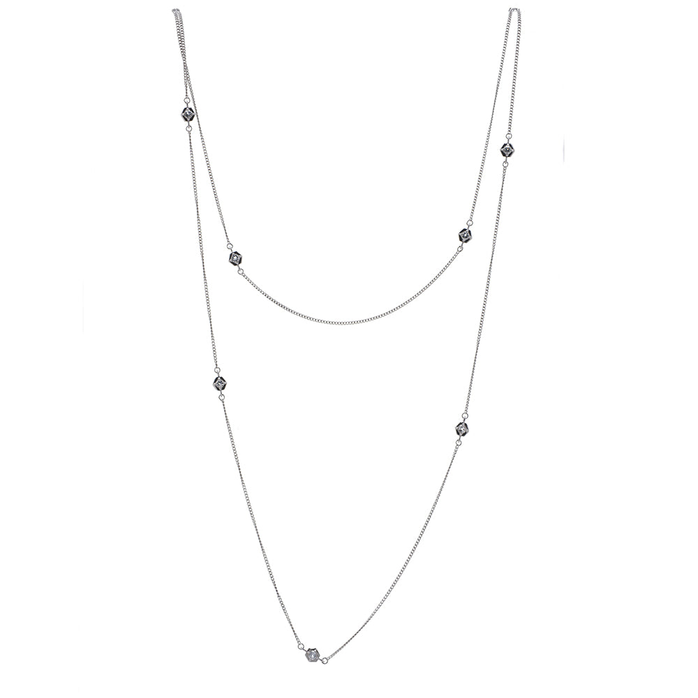 Hexa Bling Chain Necklace