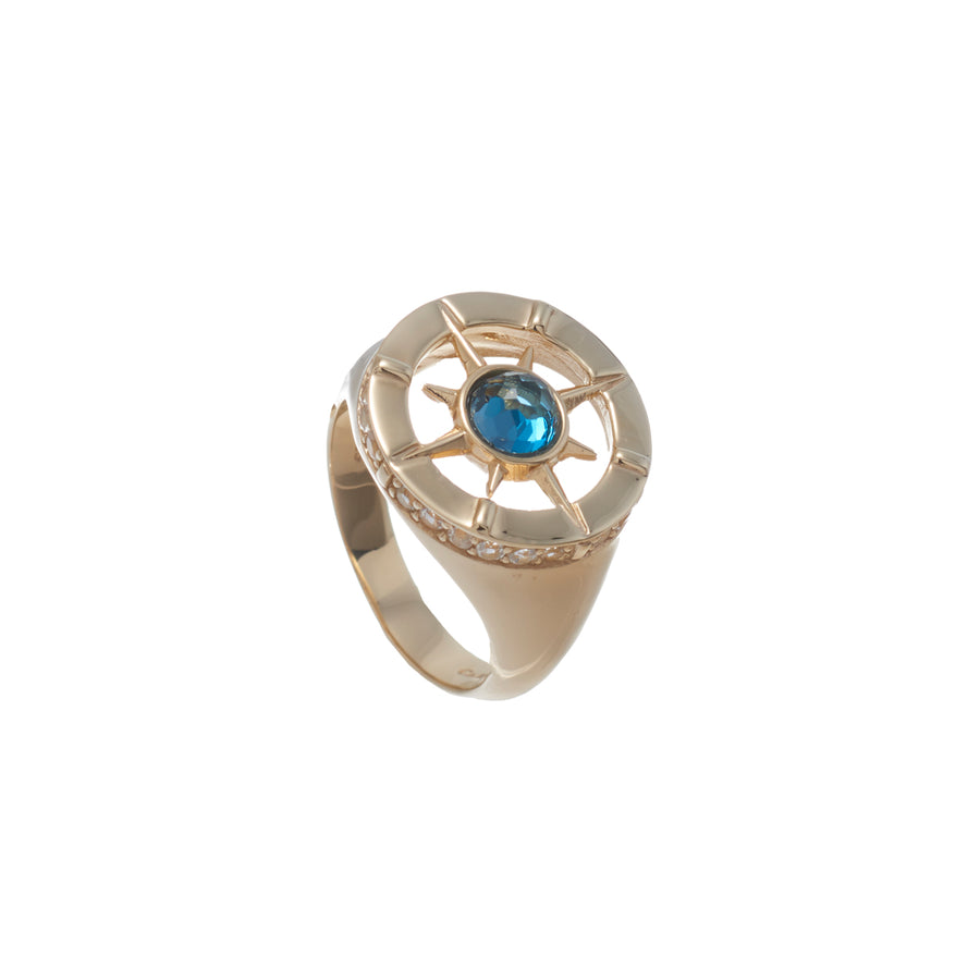 Compass Signet Ring (9K Gold)