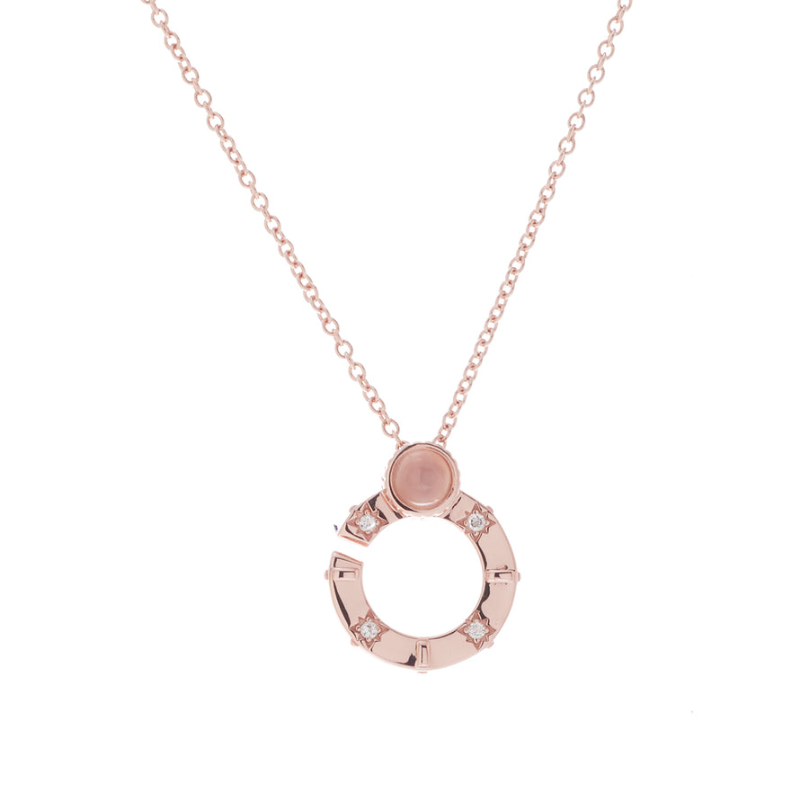 Compass Link Short Necklace (9K Gold) - Carrie K.