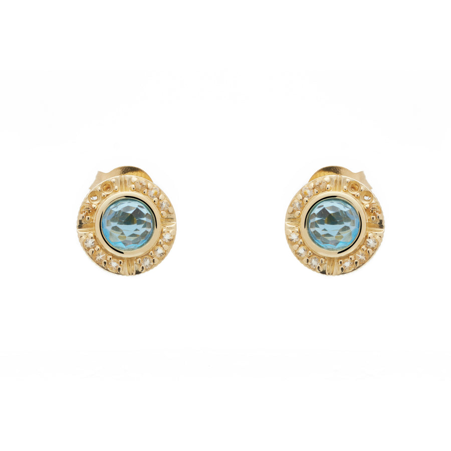 Compass Studs (9K Gold) - Carrie K.