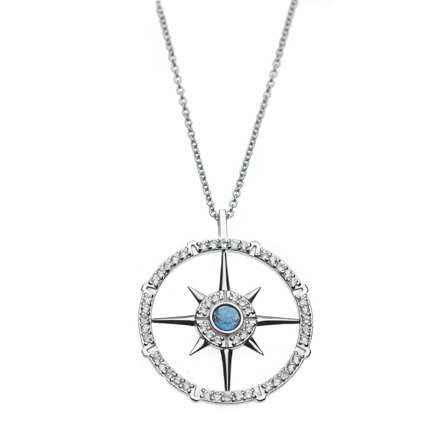 Compass Long Necklace - Carrie K.