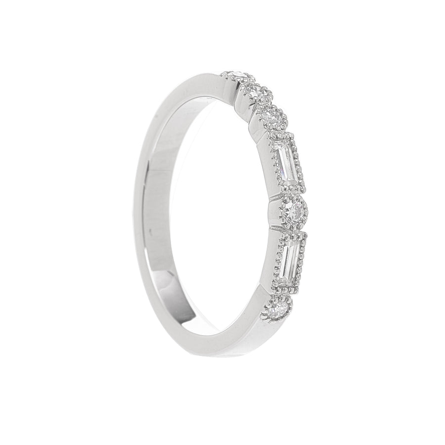 Milgrain Morse Ring - 2.5 mm - Carrie K.