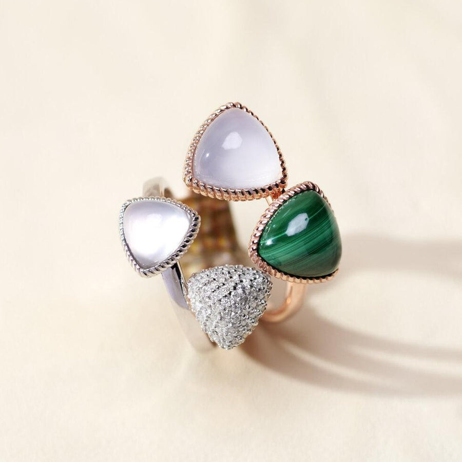 Baby Trilliant Cabochon Ring