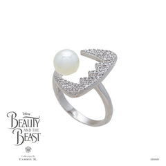Teeth White Pearl Bling Silver Ring - Carrie K.
