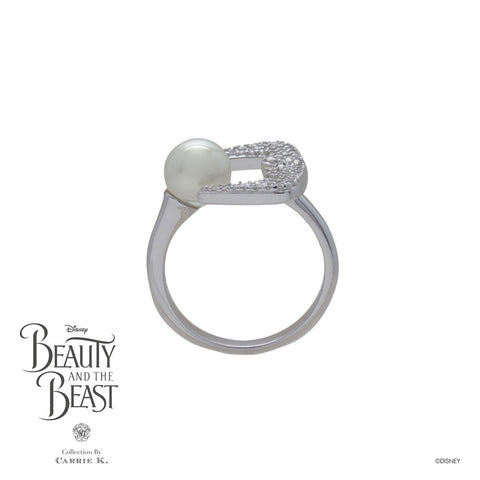 Teeth White Pearl Bling Silver Ring